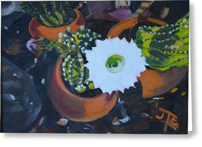 Blooming Cacti Greeting Card