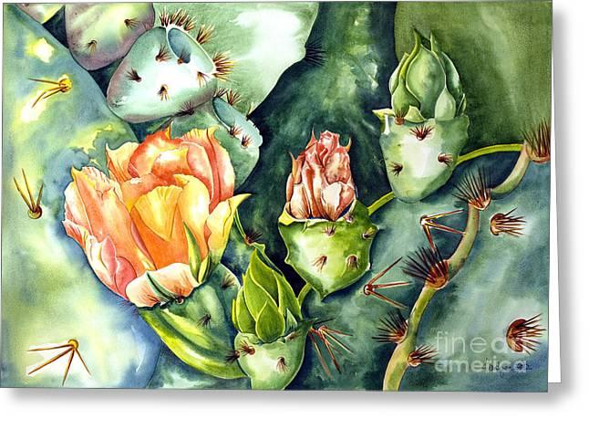 Blooming Cactus II Greeting Card