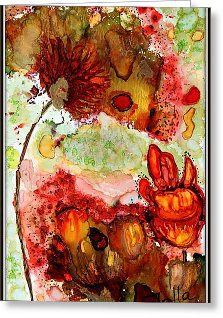 Blooming Impressions.. Greeting Card