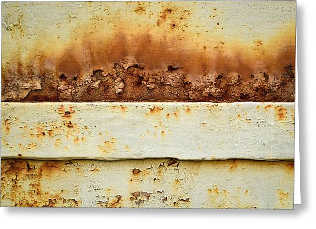 Blooming Rust On An Iron Plate Greeting Card by Jozef Jankola