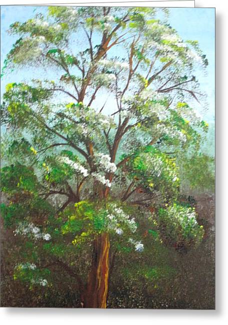 Blooming Tree Greeting Card by Roni Ruth Palmer