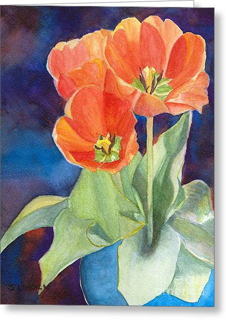 Blooming Tulips Greeting Card