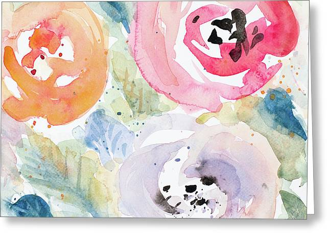 Blooms Abound Rectangle Greeting Card by Lanie Loreth