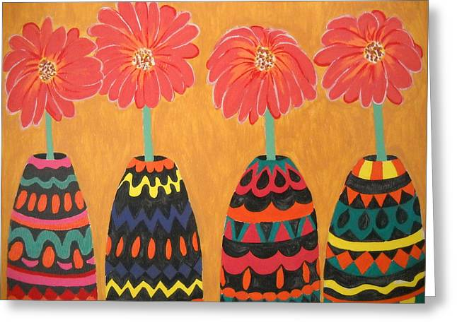 Blooms In Native Dress Greeting Card