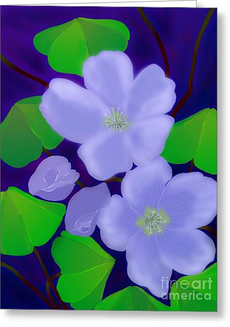 Greeting Card featuring the digital art Blooms Of Good Luck by Latha Gokuldas Panicker