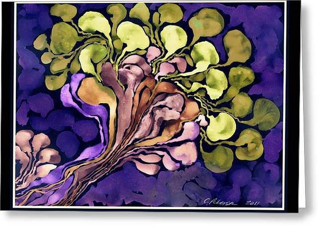 Blossom Of Spring    Purple Greeting Card by Cathy Peterson