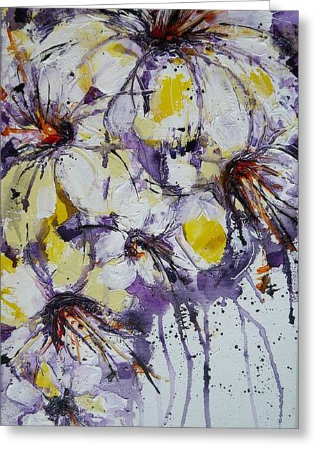Blossoming White Flowers Greeting Card