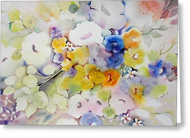 Blossoms II Greeting Card by Neela Pushparaj
