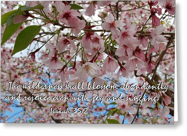 Blossoms Rejoice Greeting Card