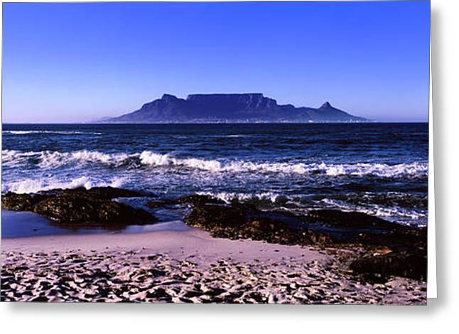 Blouberg Beach, Cape Town, Western Cape Greeting Card by Panoramic Images