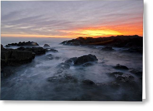Bloubergstrand Sunset Greeting Card by Aaron Bedell