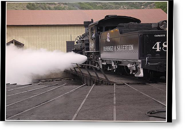 Blowing Off Steam Greeting Card by T C Hoffman