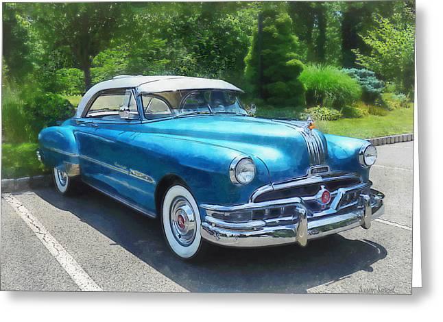 Blue 1951 Pontiac Greeting Card
