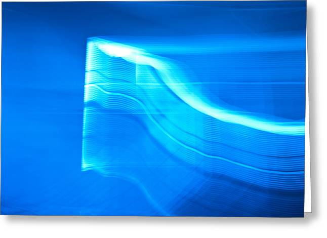 Blue Abstract 3 Greeting Card by Mark Weaver