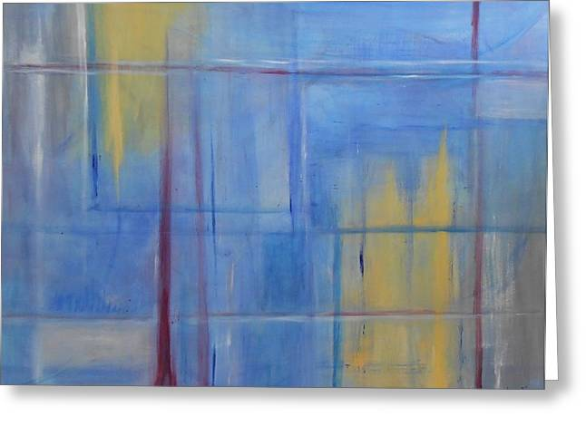 Blue Abstract Greeting Card by Jamie Frier