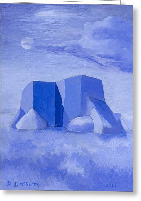 Blue Adobe Greeting Card by Jerry McElroy