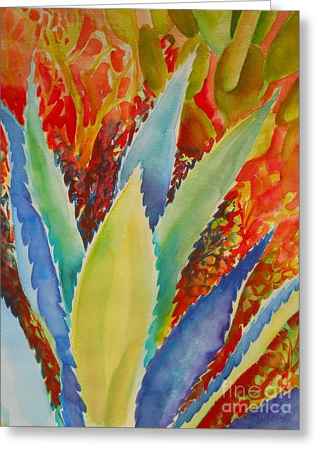 Blue Agave Greeting Card by Summer Celeste