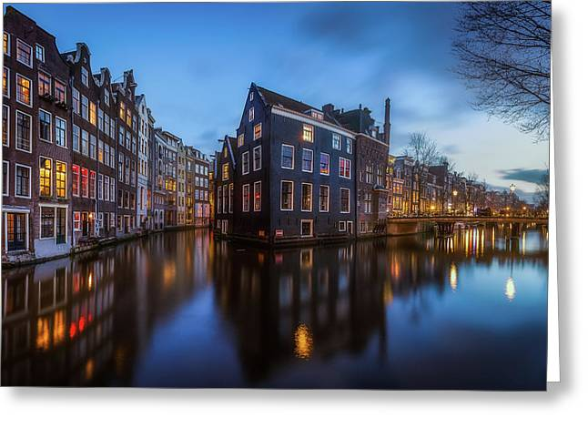 Blue Amsterdam Greeting Card