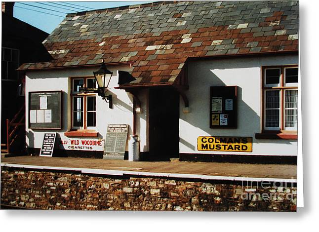 Blue Anchor Ticket Office Greeting Card by Martin Howard