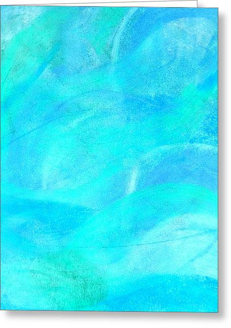 Blue And Aqua Abstract Greeting Card