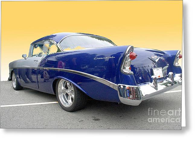 Blue And Silver Chevrolet Greeting Card