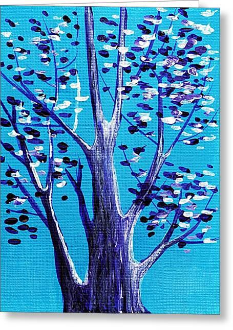 Blue And White Greeting Card by Anastasiya Malakhova