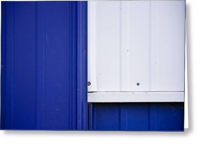 Blue And White Greeting Card by Christi Kraft