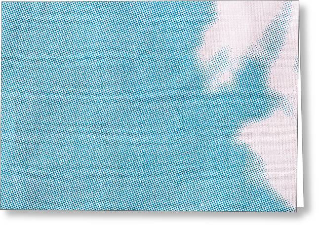Blue And White Cotton  Greeting Card