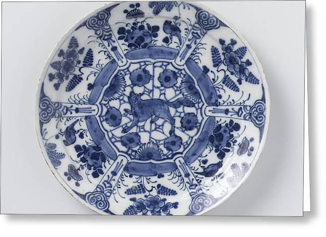 Blue And White Delft Pottery Greeting Card by Quint Lox