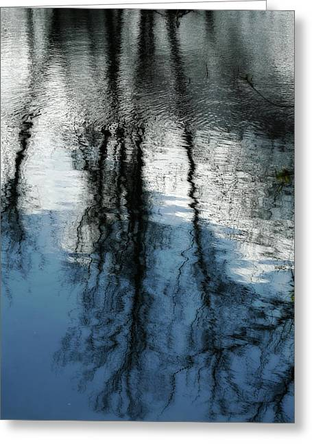 Blue And White Reflections Greeting Card