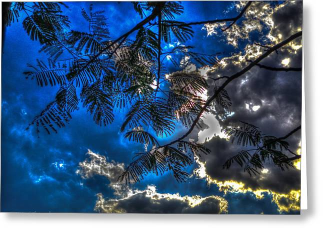 Greeting Card featuring the photograph Blue And Yellow Skies by Ross Henton