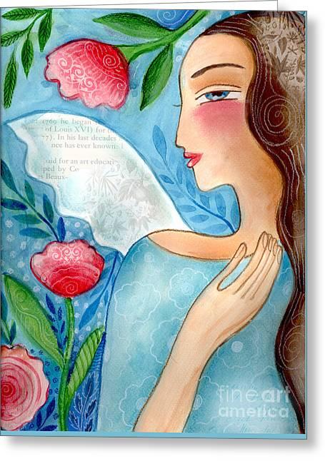 Blue  Angel Greeting Card by Elaine Jackson