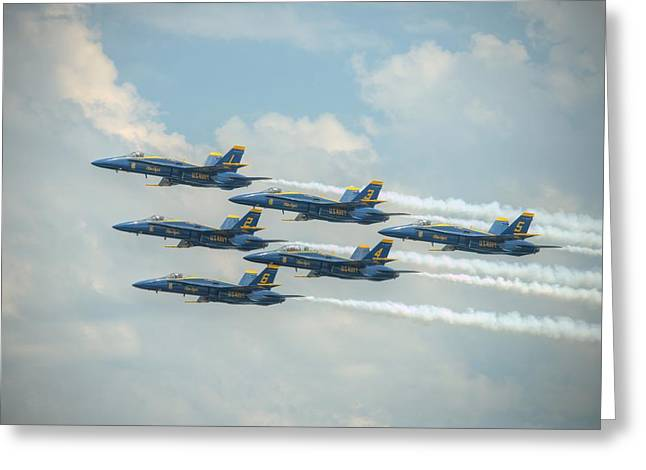 Blue Angels Delta Pass Greeting Card