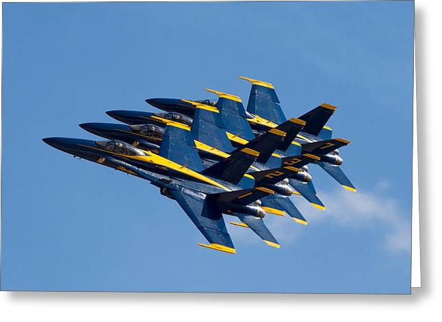 Blue Angels Echelon Greeting Card by John Daly