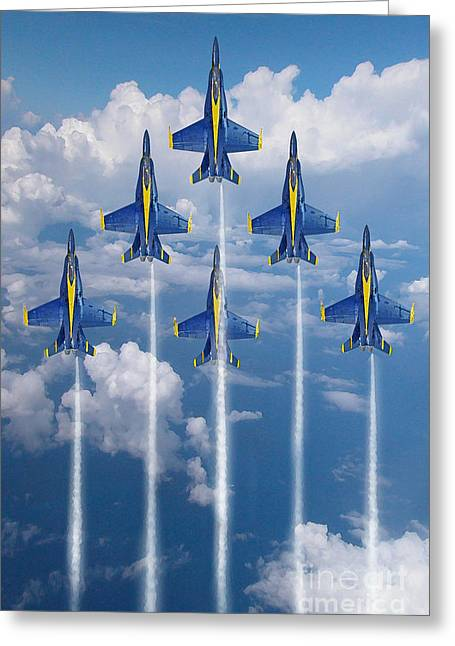 Blue Angels Greeting Card