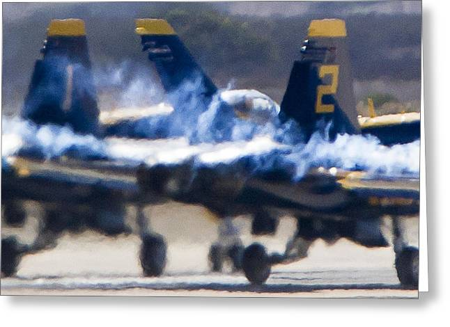 Blue Angels Ready For Takeoff Greeting Card