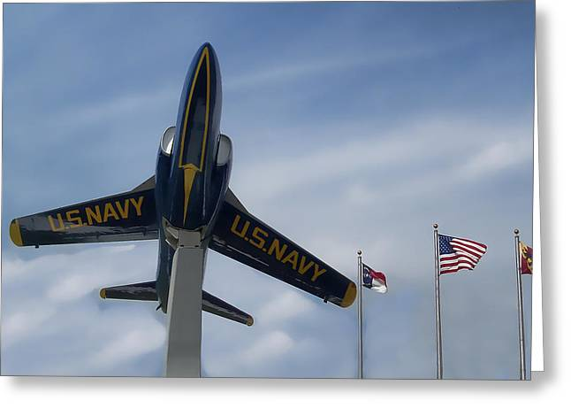 Greeting Card featuring the photograph Blue Angels Tribute by Victor Montgomery