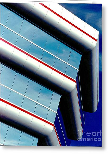 Blue Angled Greeting Card by Gary Gingrich Galleries