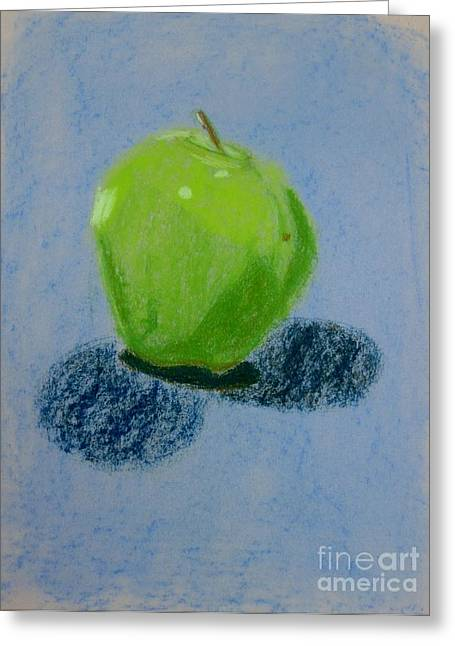 Blue Apple Greeting Card by Christopher Murphy