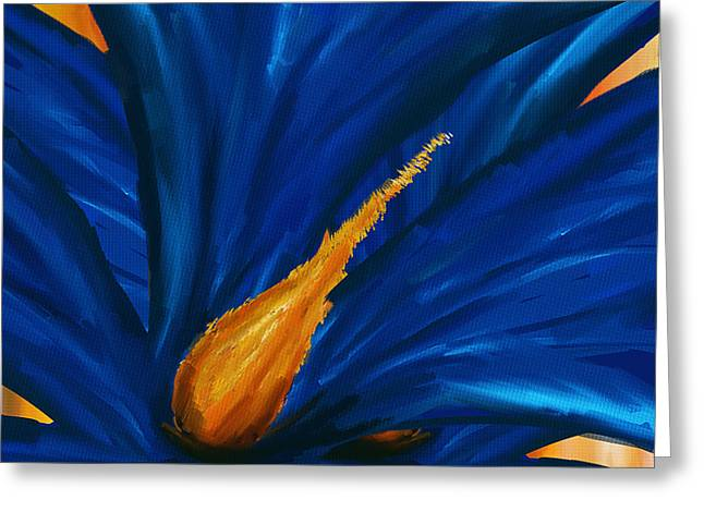 Blue As Blue- Magnolia Paintings Greeting Card by Lourry Legarde
