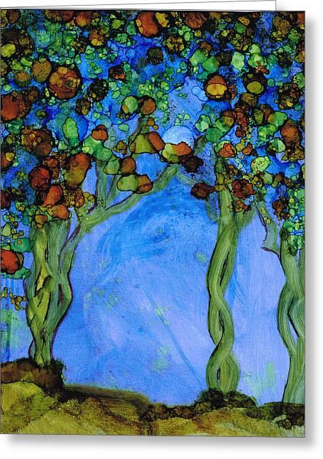 Blue Autumn Greeting Card
