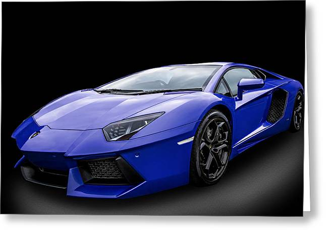 Blue Aventador Greeting Card