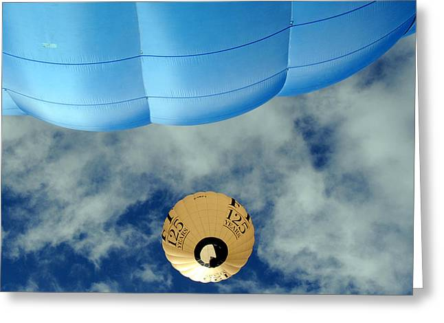 Blue Balloon Greeting Card by Stephen Richards