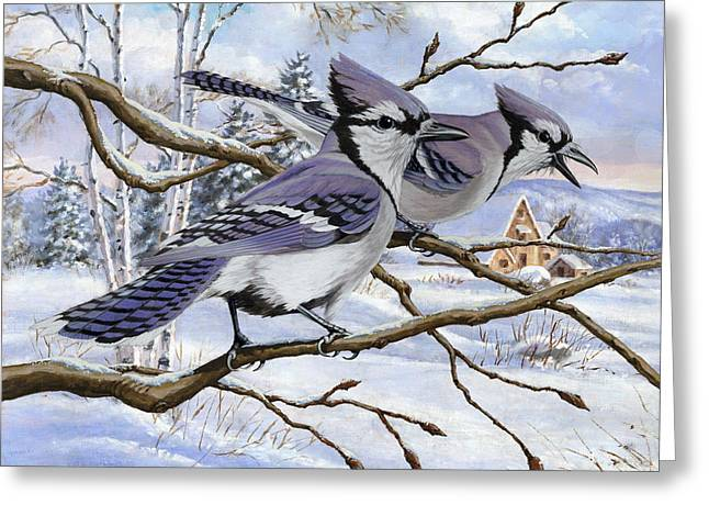 Blue Bandits Winter Afternoon Greeting Card