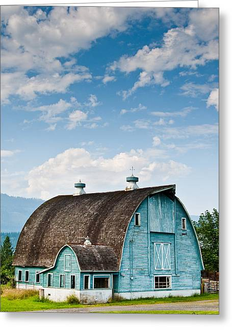 Blue Barn In The Stillaguamish Valley Greeting Card