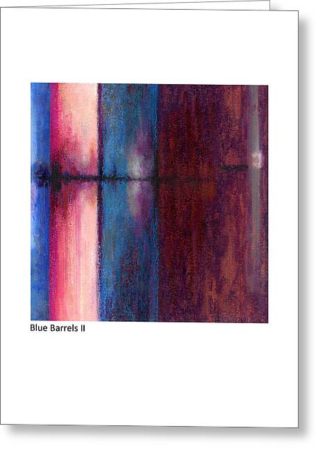 Blue Barrels II Greeting Card