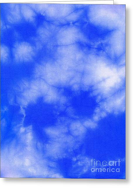 Blue Batik Pattern  Greeting Card by Kerstin Ivarsson
