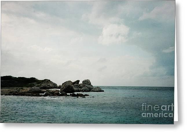 Blue Bay Beach Greeting Card by Kim Fearheiley