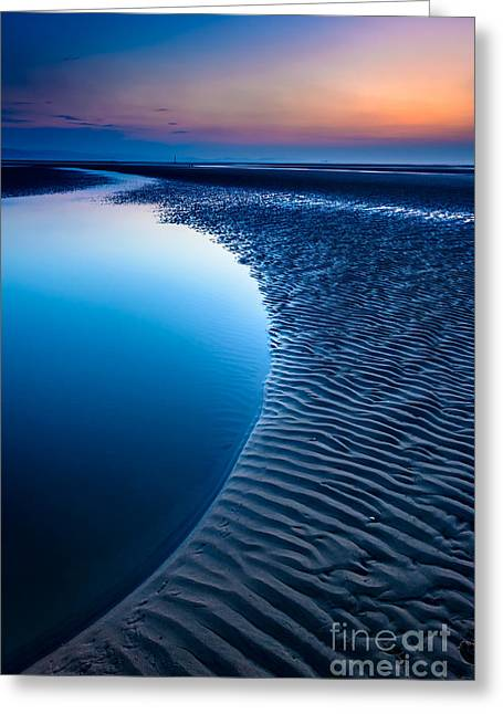 Blue Beach  Greeting Card by Adrian Evans
