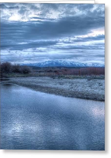 Greeting Card featuring the photograph Blue Before The Sun by Jenessa Rahn